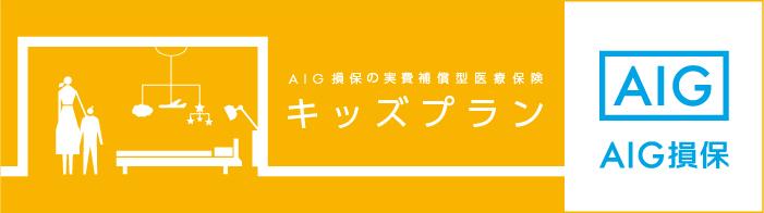 AIG損保 実費補償型医療保険 キッズプラン